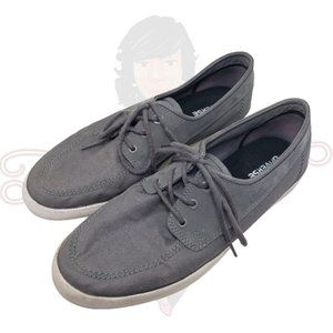 Converse Gray Lace-Up Slip-On Sneakers Sz 12